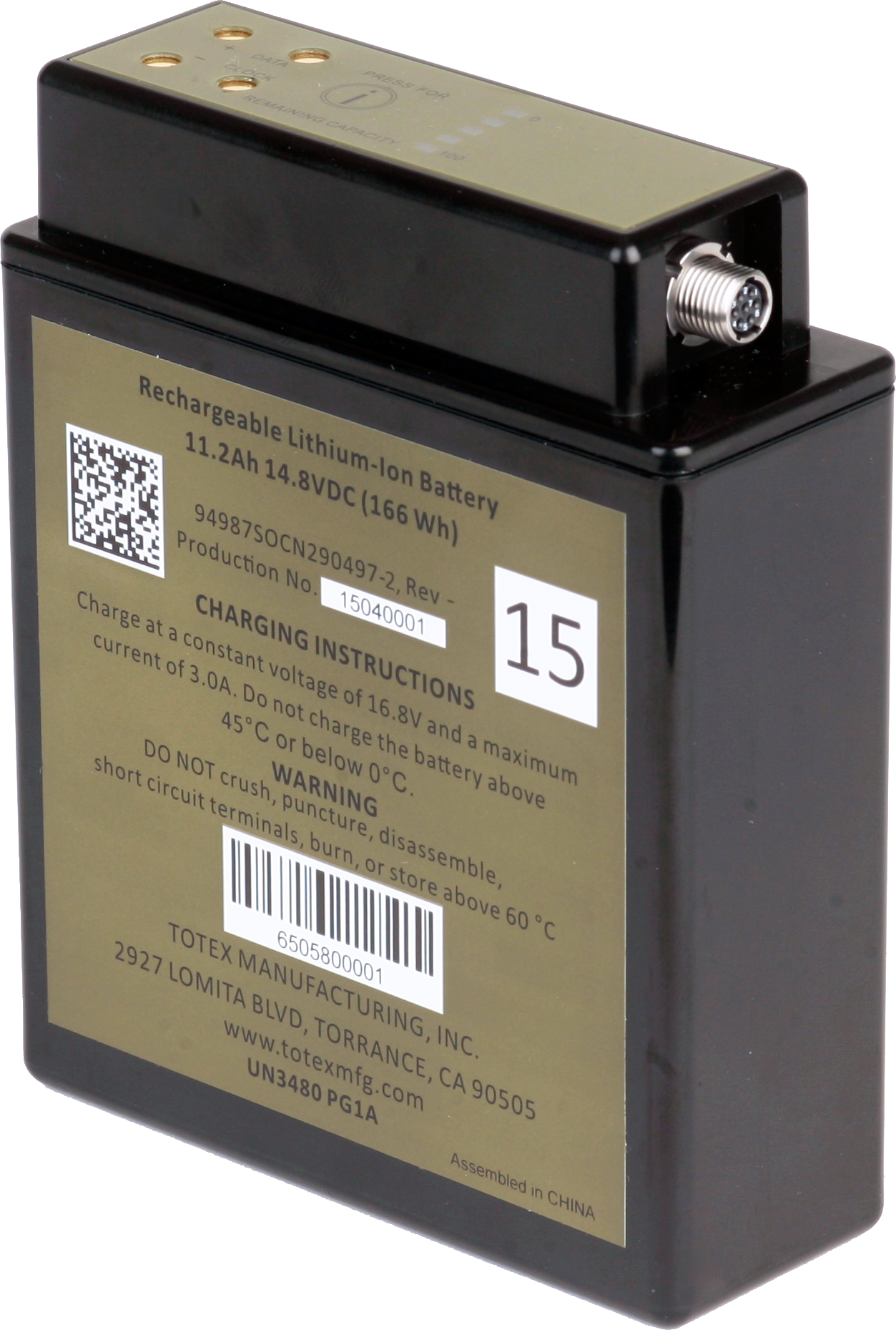 Advanced Battery And Charger Solutions Provided By Totex Lithiumion One Schematic Military Applications